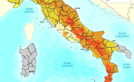 Cartina Italia Terremoti.Quali Sono Le Aree A Rischio Terremoto In Italia Il Foglio