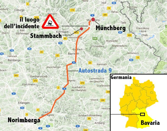 Baviera, scontro camion-pullman, veicoli in fiamme e persone disperse
