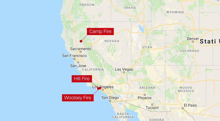 I morti per gli incendi in California sono 25