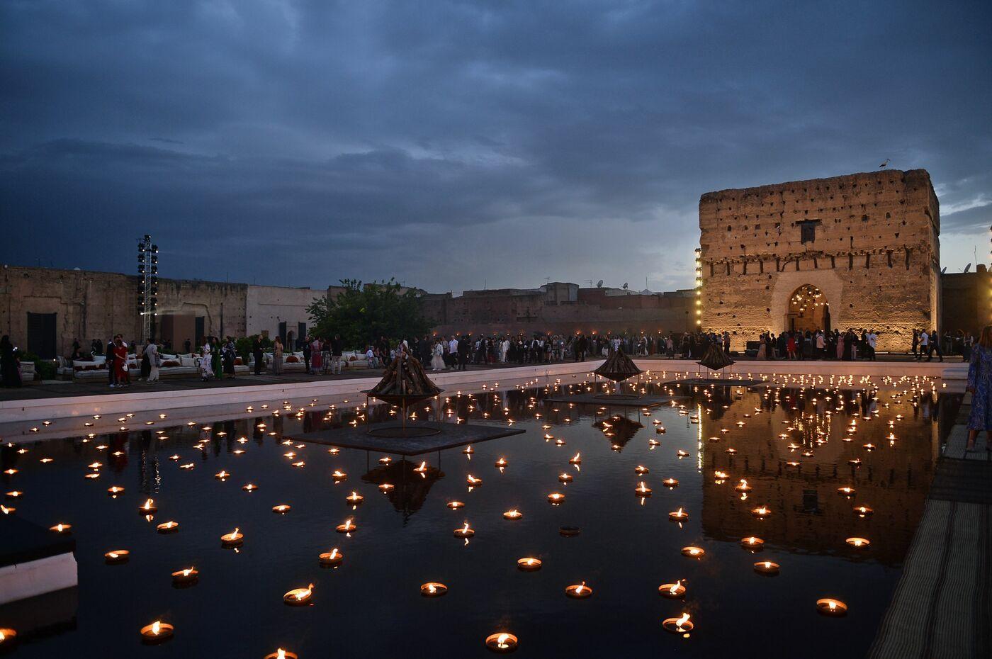 f3841c1ff0 Il Palais El Badi di Marrakech allestito per la sfilata della collezione  Dior Cruise 2020 (foto LaPresse)